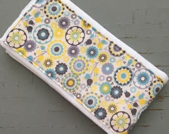 Burp Cloth// Yellow Floral Design Burp Cloth