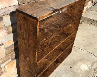 Hand-made distressed wood shelf