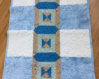 Blue and White Lap/Baby Quilt