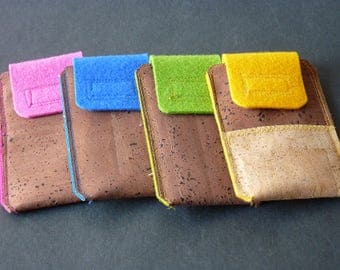 Mobile phone Pocket made of Cork