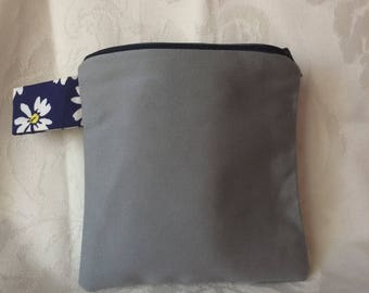 Grey Small Square Pouch