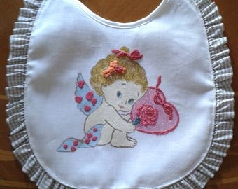 Artisan made hand painted on linen bibs