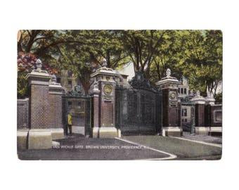 Brown University - Van Wickle Gate, Providence, RI - Vintage Postcard, 1900s