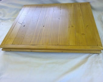 Very Large Hand Crafted Solid Pine Wooden Butchers Block / Thick Chopping Board,