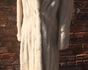 Patchin furs vintage full length mink coat UK size 12 azurine