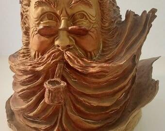 Stephen Herrero Burl Plaster Bust Sculpture