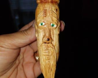 Carved wooden magnet