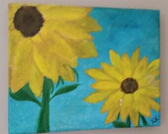 8x10 sunflower painting