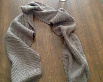 Hand Knit Scarf - Double Moss Stitch - 100%  Wool