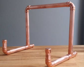 Copper pipe ipad stand book holder