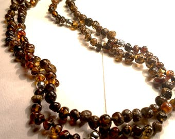 Natural Baltic Amber Necklaces for Men Earth Colored