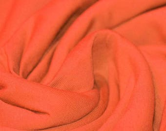 Orange Jersey (240gsm, 94/6 Cotton/Elastane) *UK*