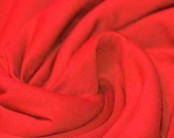 Red Jersey (240gsm, 94/6 Cotton/Elastane) *UK*