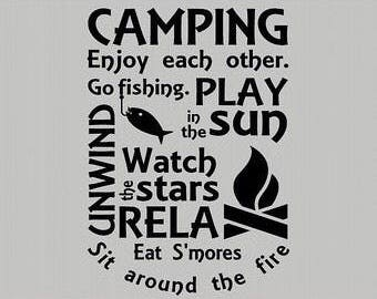Camping - Decal