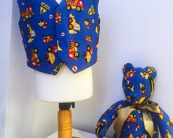 Matching Teddy Bear and Waistcoat  for Boys - Made to Order