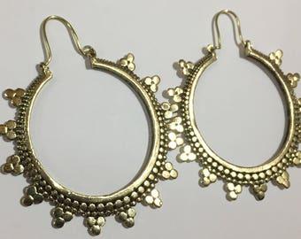 Jaipur Earrings, Indian Earring, Hoop, Bohemian Earring, Tribal Earring, Ethnic Vinatge Earring, Indian jewellery, Brass Earring, Jewellery