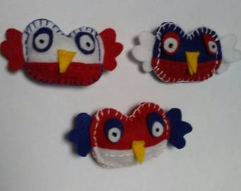 patriotic owl magnets
