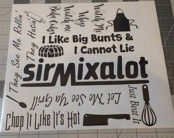 KitchenAid Mixer decal hip hop