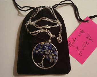 Tree of Life Necklace (Blue Chip Beads)