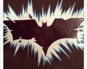 Batman, Dark Knight symbol painting