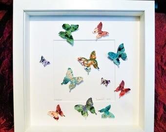 papillon de mur 3d etsy. Black Bedroom Furniture Sets. Home Design Ideas