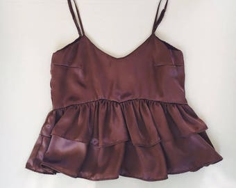 My Baby Ruffle Top - Mauve Silk