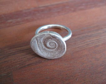Stirling Silver Shell Ring