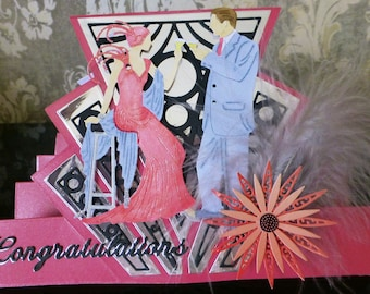 Congratulations Art Deco style card