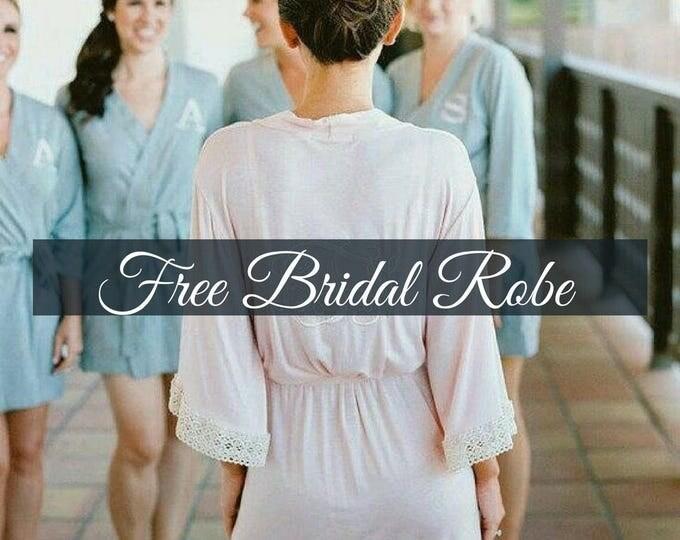 Bridesmaid Robes - Custom Bridesmaid Robes - Satin Bridesmaid Robes - Wedding Robes - Bridal Robes- Set of 6,7,8,9,10,11,12 Bridesmaid Robes