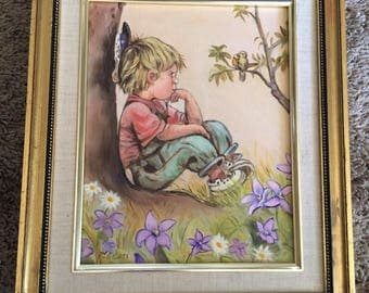 50's little boy painting