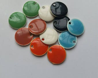 Beautiful Clay Jewelry Round Disc Charms