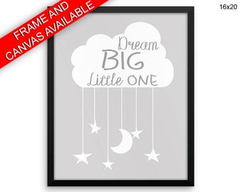 Dreaming Printed  Poster Dreaming Framed Dreaming Nursery Art Dreaming Nursery Print Dreaming Canvas Dreaming Grey Cloud Print Nursery Decor
