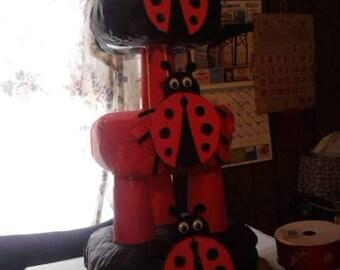 LadyBug Diaper Cake