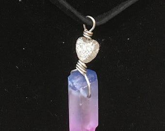 Purple/Pink Quartz Necklace