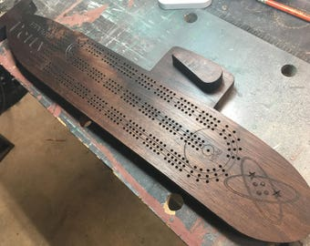 Submarine Cribbage Board