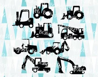 Construction Trucks SVG, Trucks bundle SVG, Mining truck SVG, Dump Truck Svg, Excavator Svg, Instant download, Eps - Dxf - Png - Svg