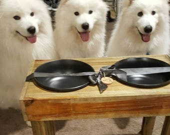 Modern/Rustic Elevated Dog Bowl Stand