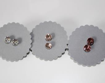 Earring size with Swarovski element white or rose jewellery earring modern filigree stainless steel earring