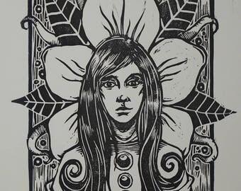 "Limited Edition Woodcut Print ""Gwendoline"""