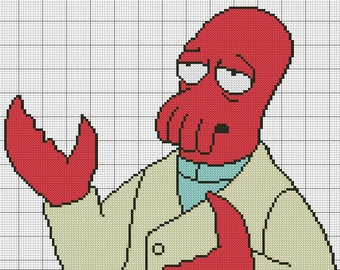 Cross stitch?  Why not Zoidberg? - PATTERN ONLY