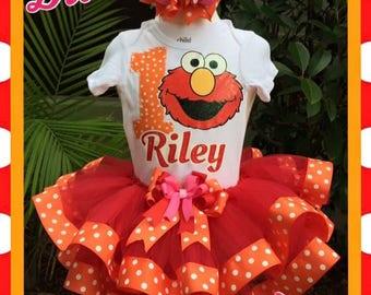 Elmo tutu, Elmo birthday tutu, Sesame Street tutu, Elmo party, Sesame Street Elmo tutu