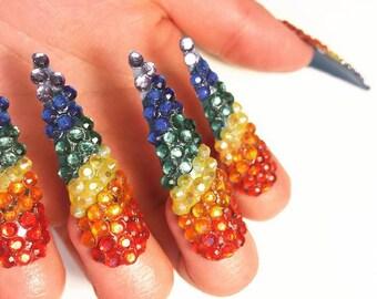 PRIDE! Drag, showgirl, photo shoot nails!