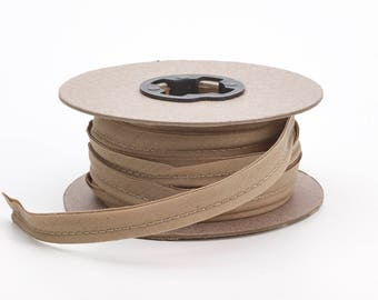 """Broadcloth cord piping, 1/2"""" Wide, 25 yds, Khaki"""