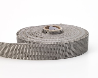 "Polypropylene webbing, 2"" Wide, 10 yds, Grey"