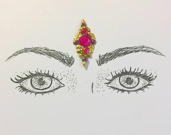 Handmade face gems