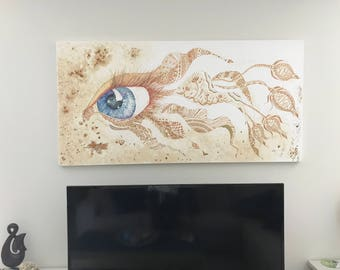 My 1st Insight original mixed media canvas