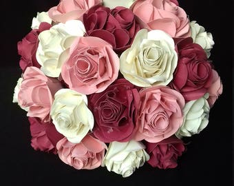 Customizable paper rose ball