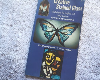 1970s Creative Stained Glass book