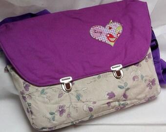 Messenger bag, shoulder bag, color mix,