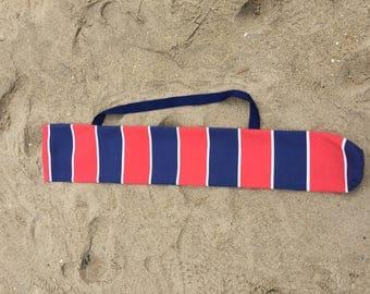 Vintage-Inspired Beach Umbrella Holder / Shoulder Bag (Red/Blue)